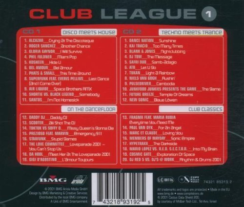 Bild 2: Club League 1 (2001, BMG), Alcazar, Riger Sanchez, Gloria Gaynor, Phil Fuldner, Kosheen, Scooter..