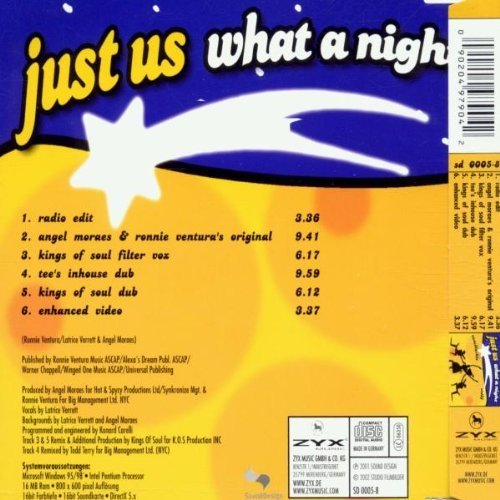 Bild 2: Just Us, What a night (2002, #zyx/sd0005)