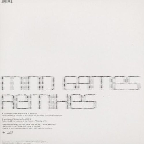 Фото 2: Sven Väth, Mind games (Remixes-Selway Semblance Factor Mix/Tobi Neumann Remix, 2002)