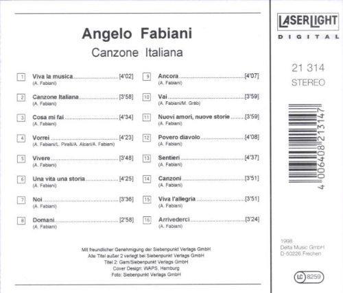 Bild 2: Angelo Fabiani, Canzone Italiana (compilation, 16 tracks, 1998)