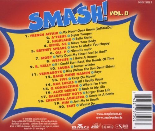 Bild 2: Smash! 08 (2000), French Affair, A*Teens, Highland, Eiffel 65, Britney Spears, Oli. P..