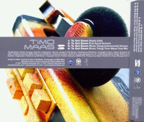 Bild 2: Timo Maas, To get down (4 versions, 2001)