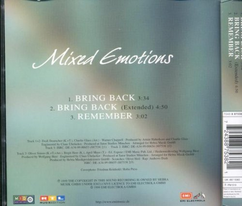Bild 2: Mixed Emotions, Bring back (1999)