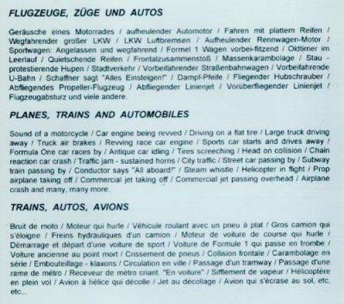 Bild 2: 101 digital Sound Effects, Planes, trains and automobiles
