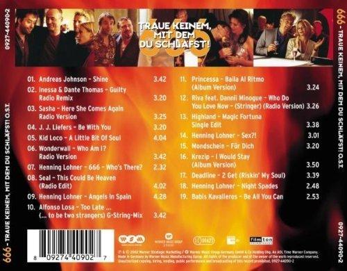 Bild 2: 666-Traue keinem, mit dem du schläfst (2002), Andreas Johnson, Sasha, J. J. Liefers, Wonderwall, Riva feat. Dannii Minogue..