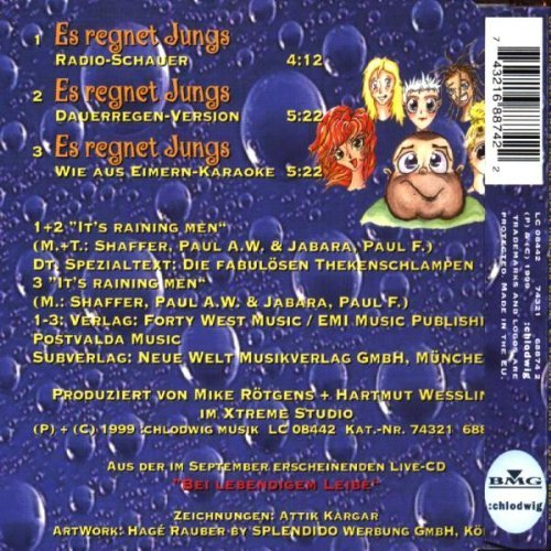 Bild 2: Die fabulösen Thekenschlampen, Es regnet Jungs (1999, & Dirk Bach)
