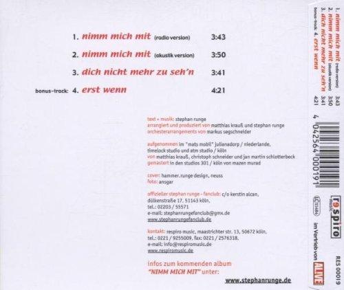 Bild 2: Stephan Runge, Nimm mich mit (2001)