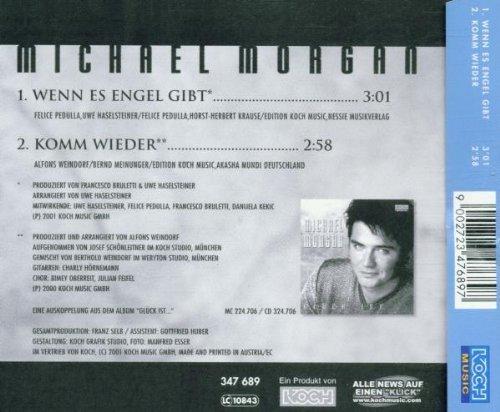 Bild 2: Michael Morgan, Wenn es Engel gibt (2001; 2 tracks)