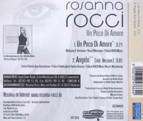 Bild 2: Rosanna Rocci, Un poco di amore (2001)