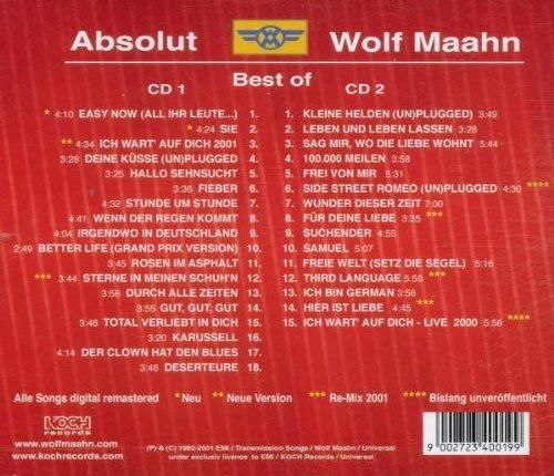 Bild 2: Wolf Maahn, Absolut-Best of (2001)