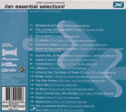 Bild 2: An Essential Selection (by DJ Rob Boskamp, 2000), Ministers de la Funk, Bini & Martini, DJ Antoine, DJ Rene, Kluster..