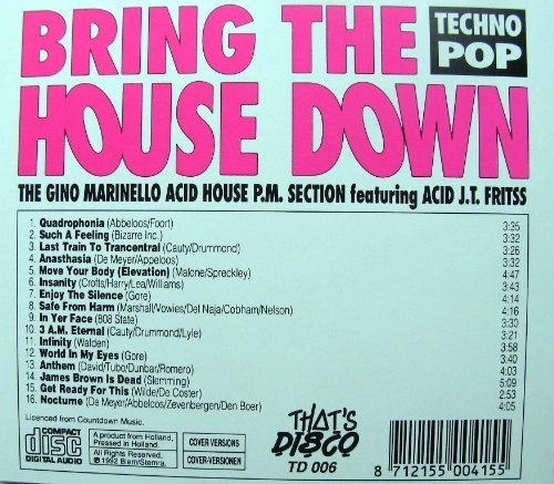 Bild 2: Gino Marinello Acid House P.M. Section, Bring the house down (1992, feat. Acid J.T. Fritss)