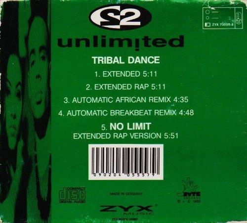 Bild 2: 2 Unlimited, Tribal dance (#zyx7000r, digi)