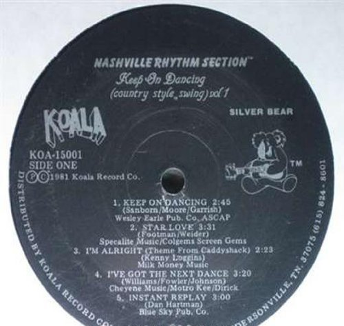 Bild 1: Nashville Rhythm Section, Keep on dancing (country style swing vol. 1)