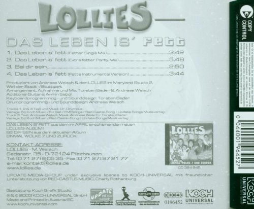 Bild 2: Lollies, Das Leben is' fett (2002)