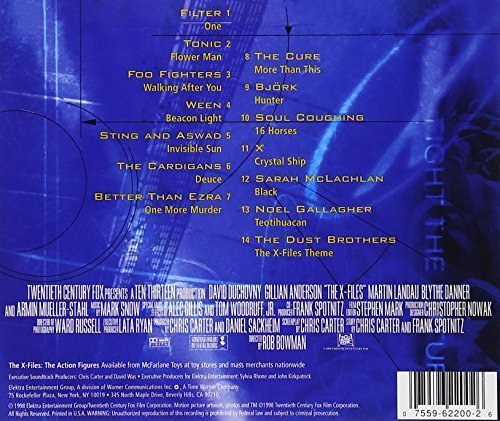 Bild 2: X Files-The Album (1998, US), Filter, Tonic, Foo Fighters, Ween, Sting & Aswad, Cardigans, Cure, Björk..