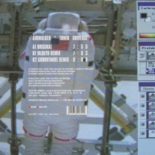 Bild 2: Airwalker, Tuned universe (Orig./Merlyn/Groovemike Remixes, 2002)