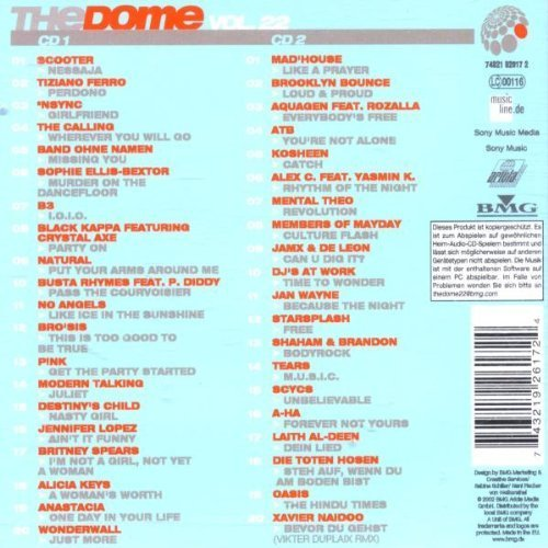Bild 2: Dome 22 (2002), Scooter, Tiziano Ferro, Calling, Natural, No Angels, Pink, Anastacia..