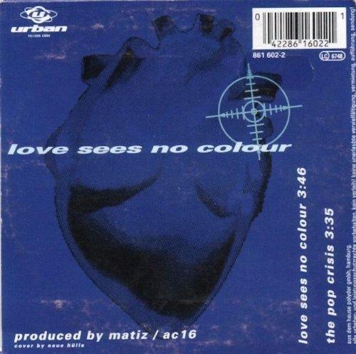 Bild 2: U96, Love sees no colour (1993; 2 tracks, cardsleeve)