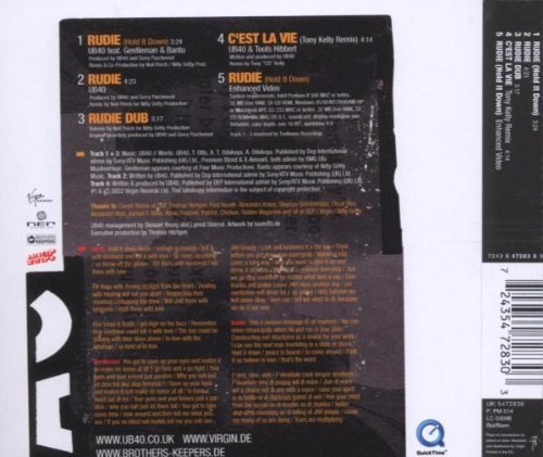 Bild 2: UB 40, Rudie.. (feat. Gentleman & Bantu; incl. 3 versions/video, 2002)