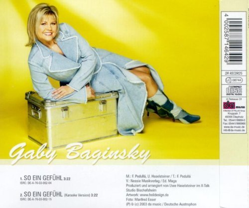 Bild 2: Gaby Baginsky, So ein Gefühl (2003; 2 tracks)