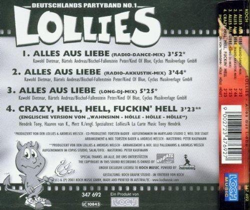 Bild 2: Lollies, Alles auf Liebe (2001)