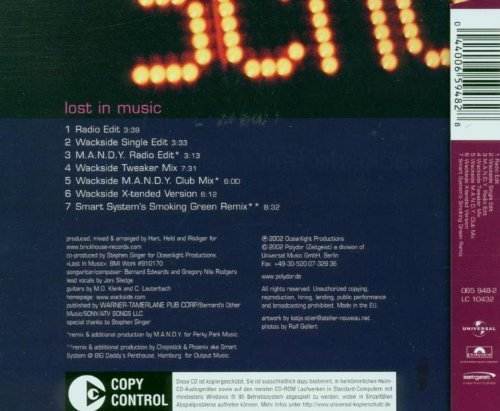 Bild 2: Wackside, Lost in music (7 versions, 2002, feat. Sister Sledge)
