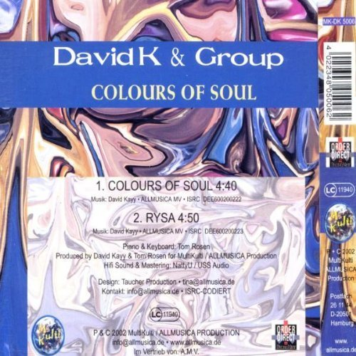 Bild 2: David K., Colours of soul (2 tracks, 2002, & Group)