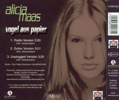 Bild 2: Alicia Maas, Vogel aus Papier (2003)