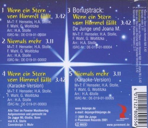 Bild 2: De Junge, Wenn ein Stern vom Himmel fällt (2001)