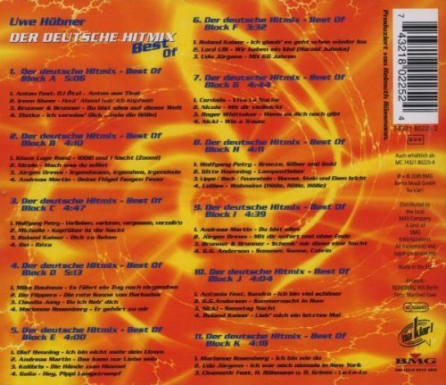 Bild 2: Der Deutsche Hit Mix (2000, Uwe Hübner), Best of:Anton feat. DJ Ötzi, Ireen Sheer, Brunner & Brunner, Zlatko, Klaus Lage Band..