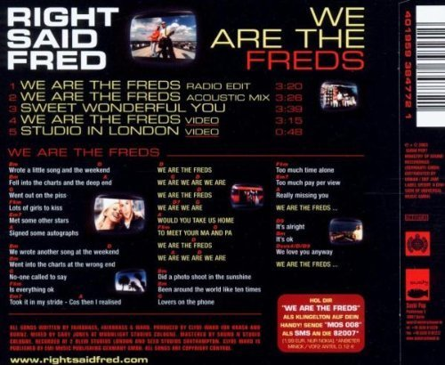 Bild 2: Right said Fred, We are the freds (2003)