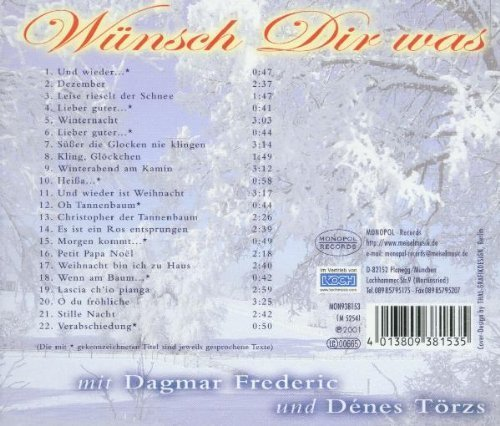 Фото 2: Dagmar Frederic, Wünsch dir was (2001, & Dénes Törzs)