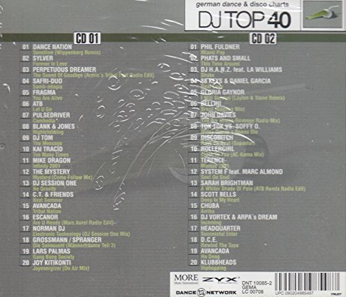 Bild 2: DJ Top 40 Vol. 07 (2001), Dance Nation, Sylver, Perpetuous Dreamer, Safri Duo, Fragma, Atb, Phil Fuldner..