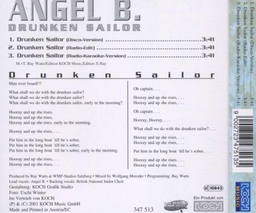 Bild 2: Angel B., Drunken sailor (2001)