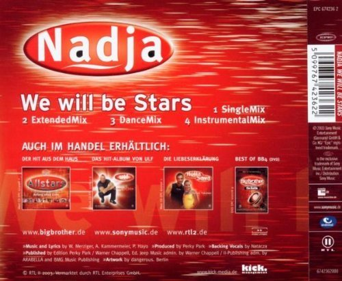 Bild 2: Nadja, We will be stars (2003)