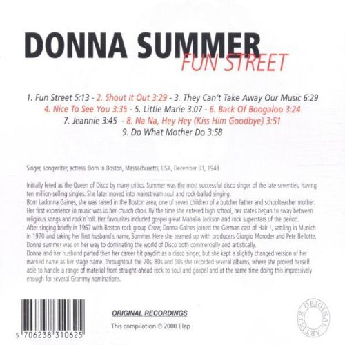 Bild 4: Donna Summer, Fun street (9 tracks)
