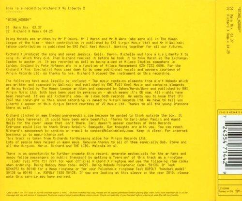Bild 2: Richard X, Being nobody (2003; 2 tracks, vs Liberty X)