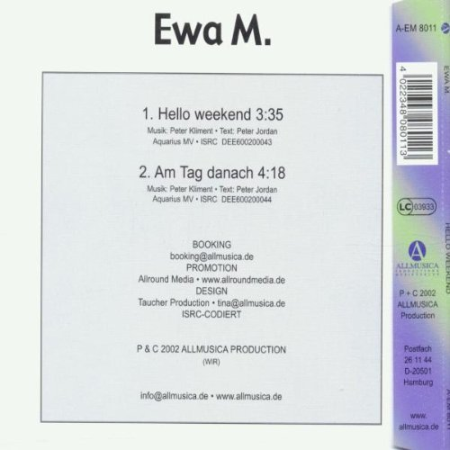 Фото 2: Ewa M., Hello weekend/Am Tag danach (2002)
