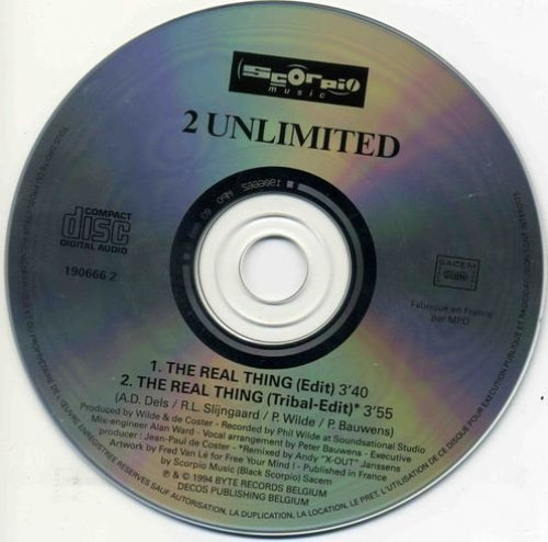 Bild 2: 2 Unlimited, Real thing (1994; 2 versions, cardsleeve)