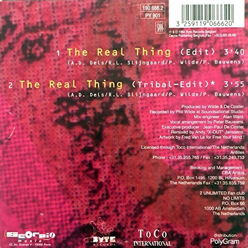 Bild 3: 2 Unlimited, Real thing (1994; 2 versions, cardsleeve)