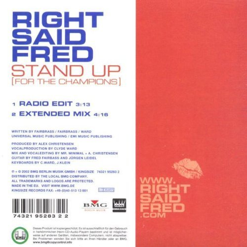 Bild 2: Right said Fred, Stand up.. (2002; 2 tracks, cardsleeve)