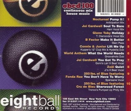 Bild 2: Dance for me, Eightball Records house-mix 5 (continuous mix by DJ Robbie Tronco)