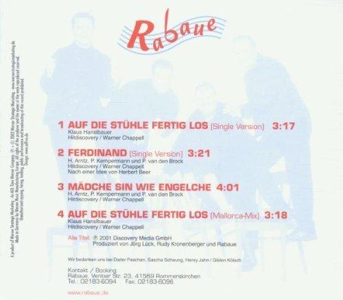 Bild 2: Rabaue, Auf die Stühle fertig los/Ferdinand (4 tracks, 2001)
