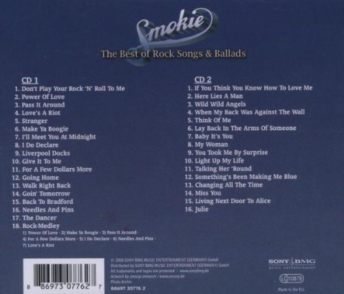 Image 4: Smokie, Best of the rock songs and ballads (2000)
