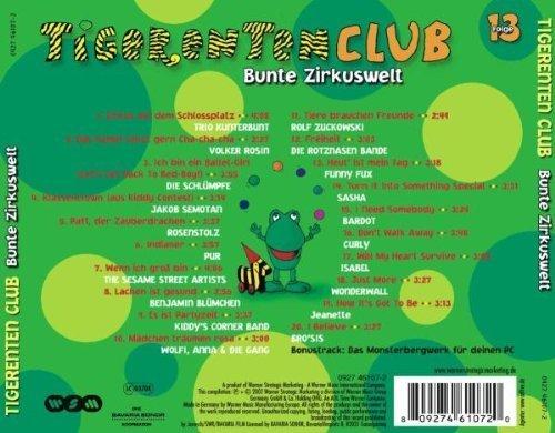 Bild 2: Tigerentenclub 13 (2002), Trio Kunterbunt, Volker Rosin, Die Schlümpfe, Rosenstolz, Pur, Jeanette..