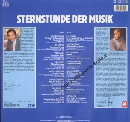 Bild 2: Sternstunde der Musik (1986), Udo Jürgens, Klaus Lage Band, Peter Maffay, Udo Lindenberg, Konstantin Wecker..