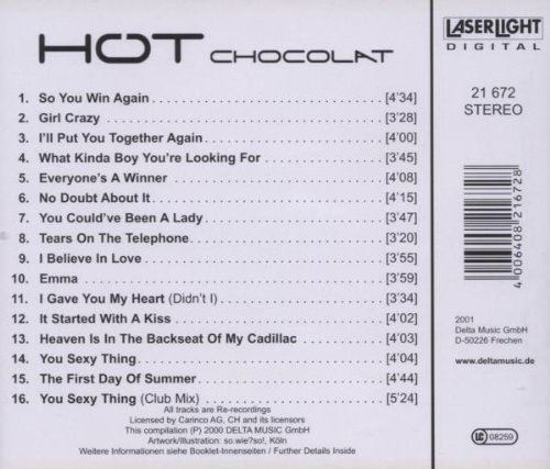 Bild 2: Hot Chocolate, Greatest hits (16 tracks, 2000, re-recordings)