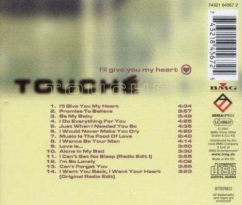 Bild 2: Touché, I'll give you my heart (compilation, 14 tracks 1997+98/2001)