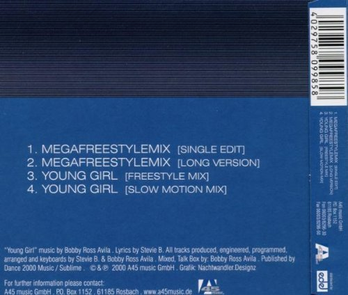 Bild 2: Stevie B., Megafreestylemix/Young girl (2 versions each, 2000)